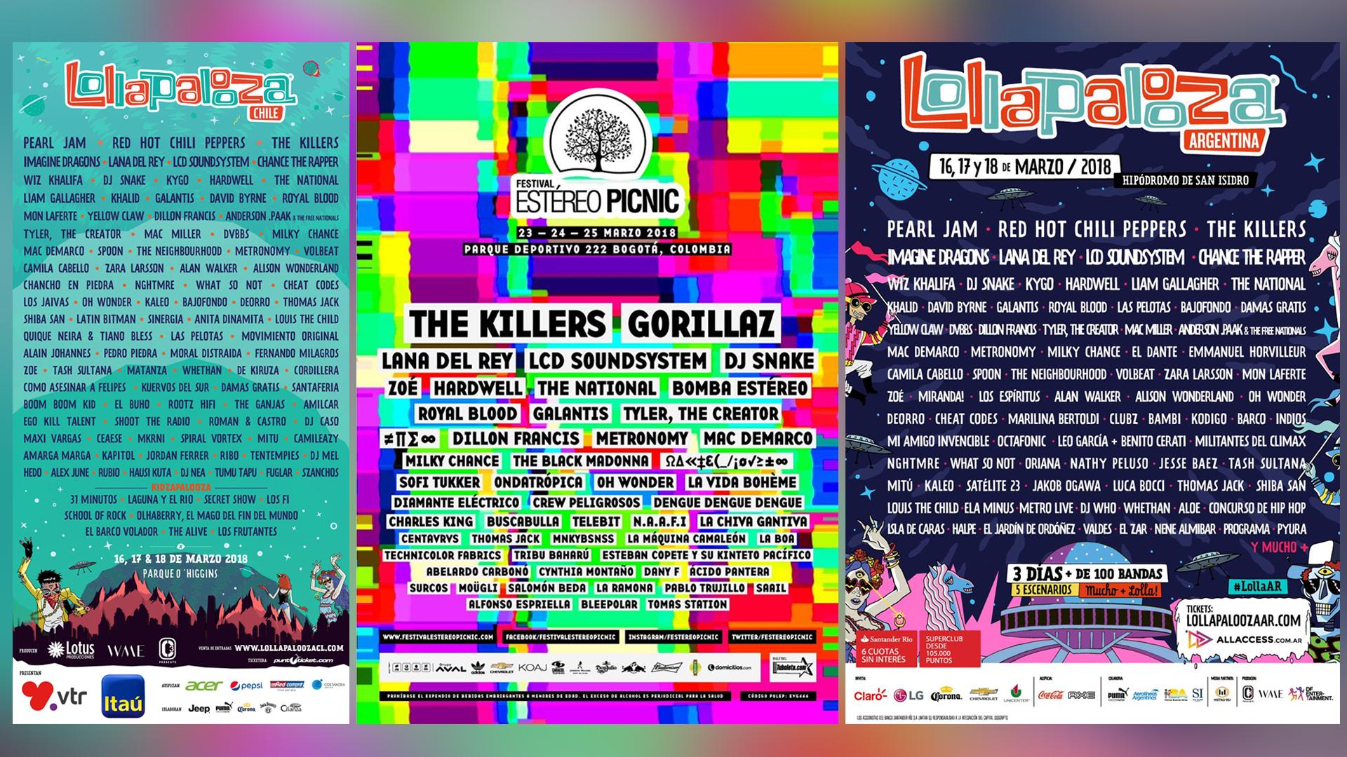 Los Mejores Festivales en Latinoamérica 2018