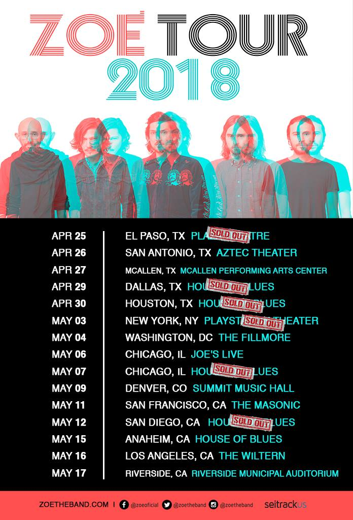 ZOÉ  'Sold Out' a lo largo de la gira USA