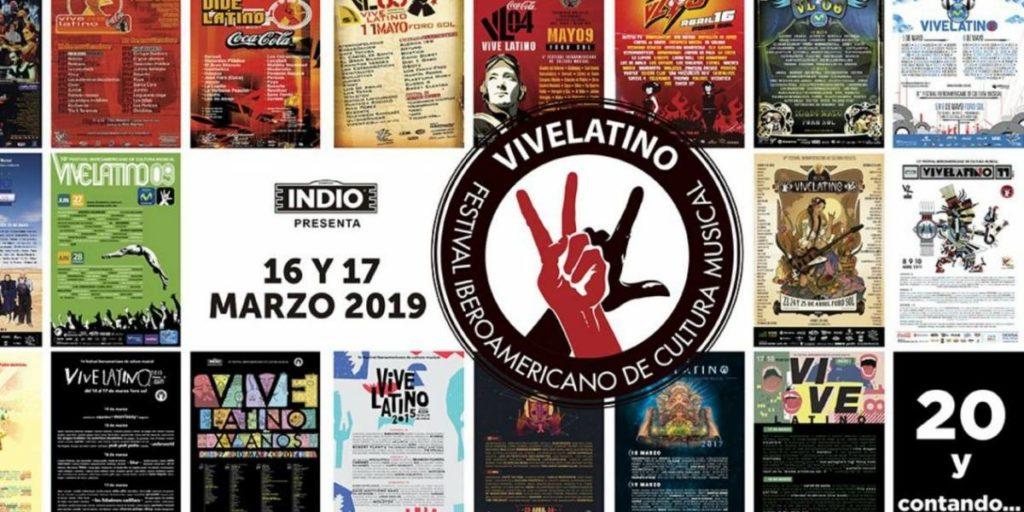 Vive Latino 2019 – Cartel de los 20 años y contando…